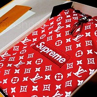 LV SUPREME HOODIE new fashion loose lazy wind hooded pullover hoodie sweater