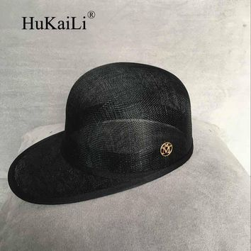 Summer haircord 2017 double gold m equestrian cap strawhat baseball cap hat female cap