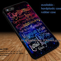Harry Potter Magic Spelling Quotes DOP1306 iPhone 6s 6 6s+ 5c 5s Cases Samsung Galaxy s5 s6 Edge+ NOTE 5 4 3 #quote