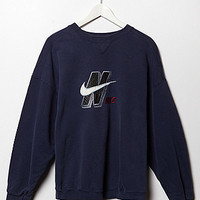 Retro Gold Vintage Nike Initial Logo Crew Fleece Sweatshirt at PacSun.com