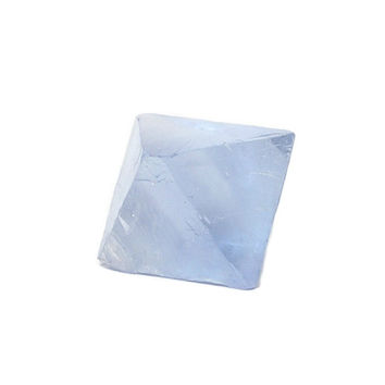 Blue Fluorite Octahedron from Illinois, Semiprecious Gemstone, Geo Treasure Curio Specimen