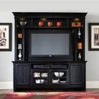 New Generation 50-Inch TV Entertainment Center in Rubbed Black Finish by Liberty Furniture - 540-ENT
