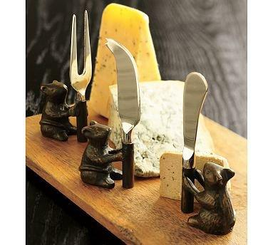 Cheese Board & Mouse Knives Set   Pottery Barn