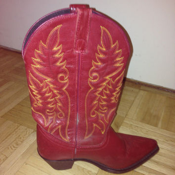 Sassy Red Cowboy Boots  (Small/Indie Brands)