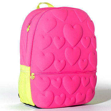 Neon Pink Hearts Bubble Backpack | LittleMissMatched