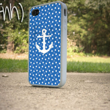 Anchor iPhone 4 Case Nautical Theme iPhone 4 or 4S case by IFNH