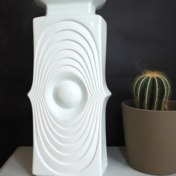 Mid-Century Royal KPM White Matte Glazed Porcelain German Art Vase