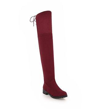 Soft Suede Tall Boots Winter Shoes for Woman 9783