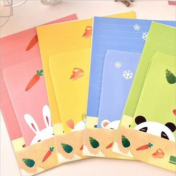 DCCKL72 Cartoon Animals Collection Letter Pad Paper With Envelope 6 sheets letter paper+3 pcs envelopes per set writing paper Stationery