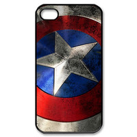Captain America's Rusted Emblem Design for iPhone 5/5s