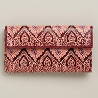 Red Leather Mosaic Wallet - World Market