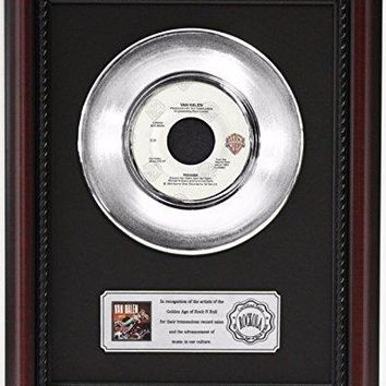 "VAN HALEN 1984 PLATINUM FRAMED RECORD CHERRYWOOD DISPLAY ""K1"""