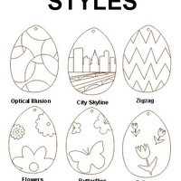 Laser engraved Easter eggs 4 inch tall design engraved plain back birch plywood