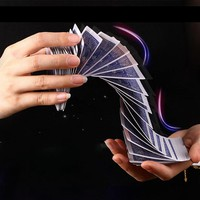 Magic Electric Deck(connection by invisible thread) of Cards Prank Trick Prop Gag Poker Acrobatics Waterfall Card props 81102