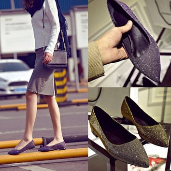 Stylish Pointed Toe Gradient Shoes [4920520452]