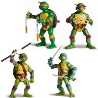"BUNDLE OF 4- 2012 TMNT Teenage Mutant Ninja Turtles Classic Collection Set 6"" Figures!"