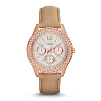 Stella Multifunction Leather Watch | Fossil