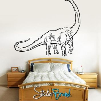 Vinyl Wall Decal Sticker Dinosaur Dino Brachiosaurus long neck #KRiley116