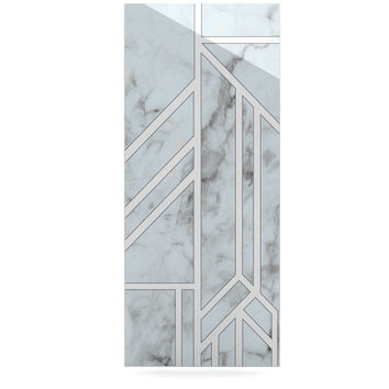 "KESS Original ""Marble Mosaic"" Geometric Digital Luxe Rectangle Panel"