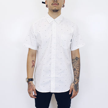 James Short Sleeve Button Up Shirt (White)