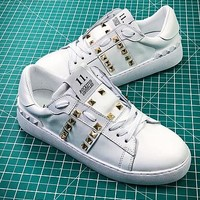 Valentino Rockstud Untitled White Sneakers - Best Online Sale