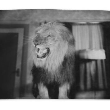 Bath Mat, Growling Lion In A Living Room