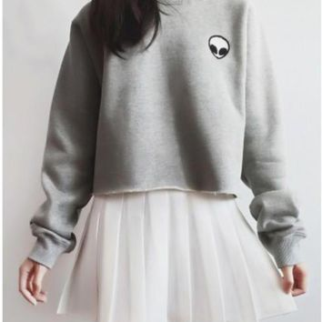 alien cropped sweatshirt