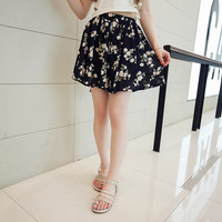 College Wind Floral Skirts