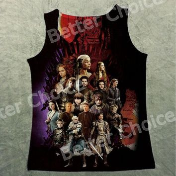 Track Ship+Vintage Vest Tanks Tank Tops Game of Thrones Movie Fighter 1298