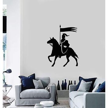 Vinyl Wall Decal Mounted Knight Middle Ages Son Room Interior Art Stickers Mural (ig5856)