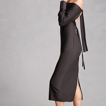 Tie-Back Off-the-Shoulder Dress