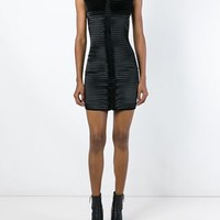 Balmain Ribbed Rear Zip Dress - Stefania Mode - Farfetch.com