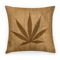 Faux Burlap Weed Pillow