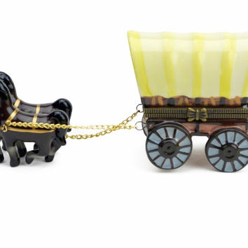 Treasure Boxes Western Covered Wagon