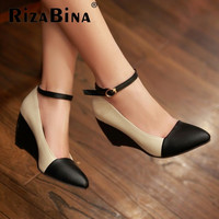 Women Wedge Ankle Strap High Heel Shoes