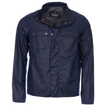 Barbour Int. Lock Wax Jacket Indigo