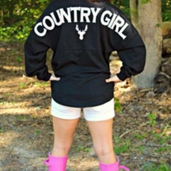 Country Girl Spirit Jersey Black