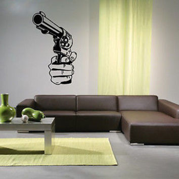 Colt Wall Sticker Decal Hand Gun Firearm Colt 1911 Gun Wall Art Decor 3817