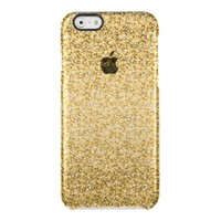Gold Glitter Pattern Uncommon Clearly™ Deflector iPhone 6 Case