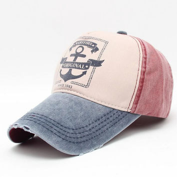 Retro Anchor Basketball Caps Men Women Baseball Cap