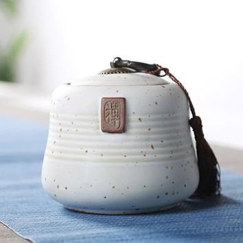 Copper Buckle Tea Canister