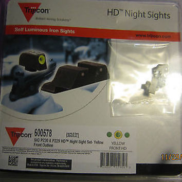 TRIJICON HD NIGHT SIGHTS FOR HANDGUN