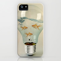IDEAS AND GOLDFISH 03 iPhone & iPod Case by Vin Zzep