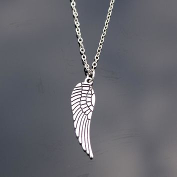N781 Angel Wing Clavicle Necklaces Feather Pendant Necklace Bijoux Collares For Women Men Fashion Jewelry