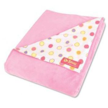 Receiving Blanket - Dr. Seuss Pink Oh! the Places You'll Go! Dot