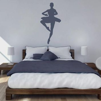 ik2270 Wall Decal Sticker ballerina dance ballet pas pirouette girl bedroom