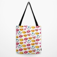 Valentine's Day Emoji Love Tote Bag by Love Lunch Liftoff