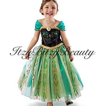 Anna from frozen beautiful costume party halloween dress