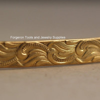 Brass Bracelet Pattern Wire - Scroll 1 Ft  - Make Rings Bracelets or Earrings - Embellish Jewelry Designs -