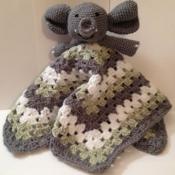 Handmade Crocheted Lovey with Animal  - Any color, size & Animal